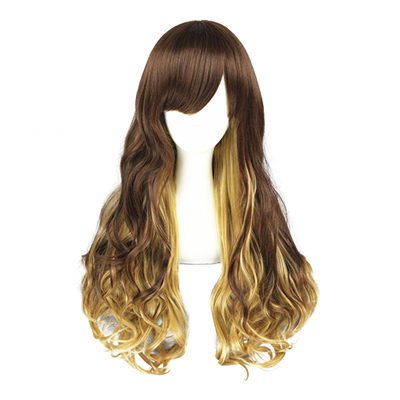 Japanese Harajuku Lolita Curls Zipper Cosplay Wig