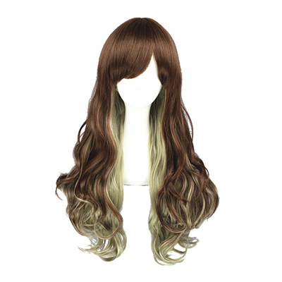 Japanese Harajuku Sweet Lolita Curls Zipper Cosplay Wig