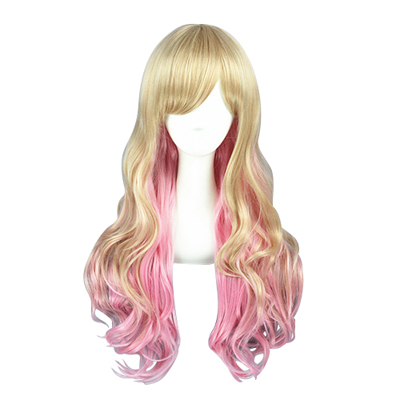 Japanese Harajuku Long Lolita Curls Zipper Cosplay Wig