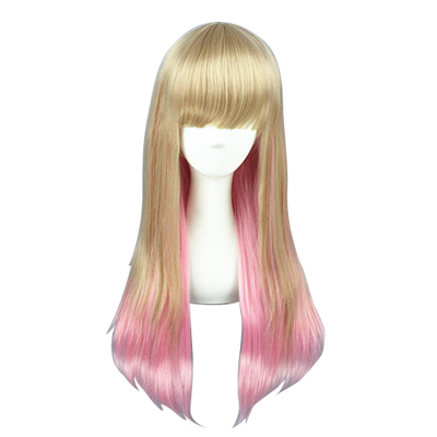 Japanese Harajuku Long Cute Lolita Zipper Fashion Cosplay Wigs