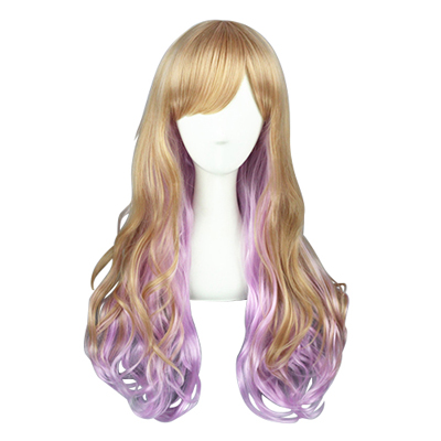 Harajuku Long Lolita Curls Zipper Cosplay Wig
