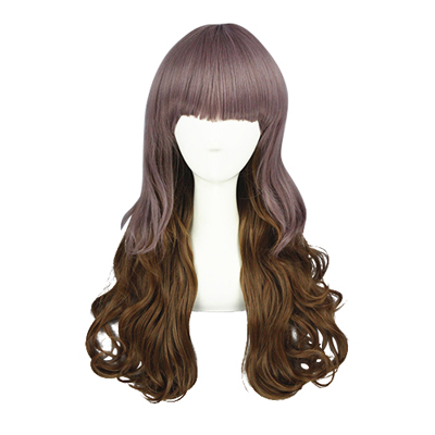 Harajuku Cute Lolita Long Curls Zipper Cosplay Wig