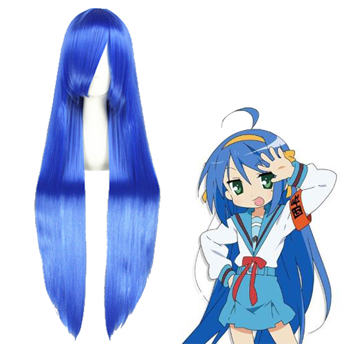 Lucky☆Star Izumi Konata Azul Perucas Cosplay