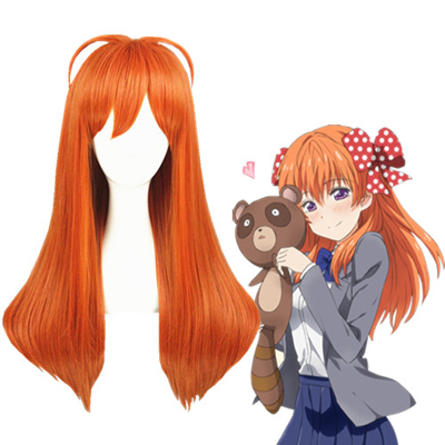 Monthly Girls' Nozaki-kun Sakura Chiyo Orange Cosplay Wigs