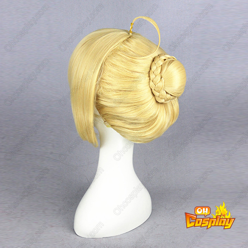 Fate Stay Night Saber Goldenee Cosplay Perücken