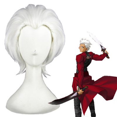 Fate Stay Night Archer Emiya White Cosplay Wigs