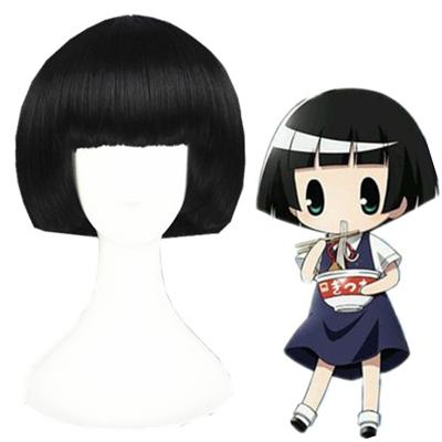 Gugure! Kokkuri-san Kohina Ichimatsu Zwart Cosplay Pruiken