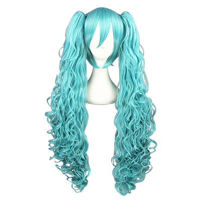 Vocaloid Aqua Blue 80cm Fashion Cosplay Wigs