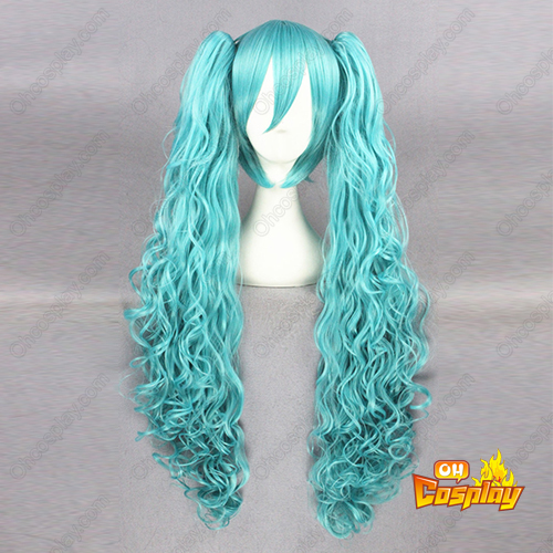 Vocaloid Aqua Blau 80cm Cosplay Perücken