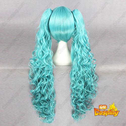 보컬로이드 Aqua 푸른 80cm 코스프레 가발
