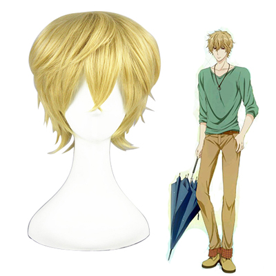 Wolf Girl and Black Prince Sata Kyouya Golden Cosplay Wigs