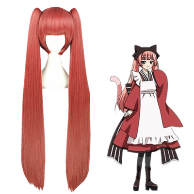Gugure! Kokkuri-san Tama Red Fashion Cosplay Wigs