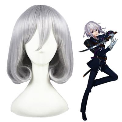 Touken Ranbu Online HonebamiToushirou Silver Gray Fashion Cosplay Wigs
