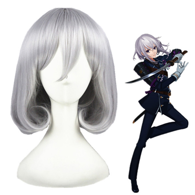 Touken Ranbu Online HonebamiToushirou Silver Gray Cosplay Wig