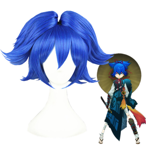 Touken Ranbu Online Sayosamonji Azul Perucas Cosplay