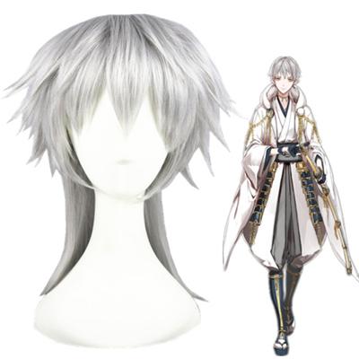 Touken Ranbu Online Tsurumaru Kuninaga Sølvgrå udklædning Parykker