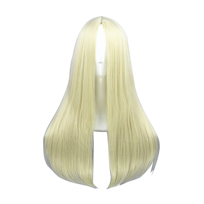 Long Straight 60cm Light Blonde Cosplay Wigs
