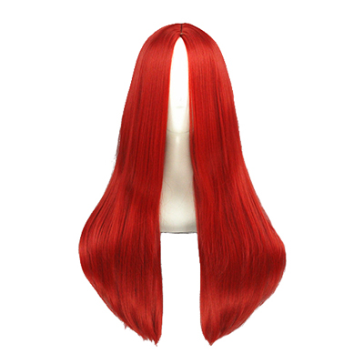 Long Straight 60cm Rdeča Cosplay Perika