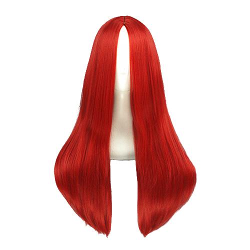 Длинный Straight 60cm Красный Косплей Парик