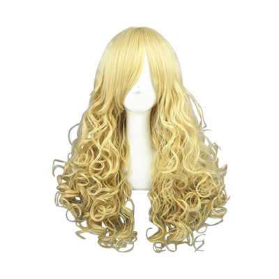 Harajuku Princecess Lolita Light Yellow Cosplay Wig