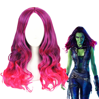 Guardians of the Galaxy Gamora Perruques Carnaval Cosplay