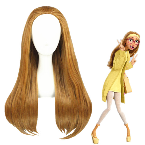 Big Hero 6 Honey Lemon Perucas Marrom Cosplay