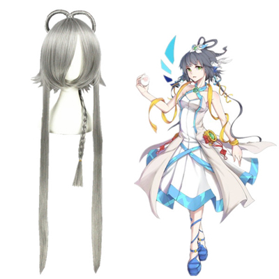 Vocaloid Luo Tianyi Grau Faschings Cosplay Perücken