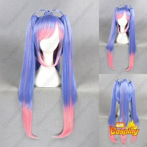 Kantai Collection Blauw Roze 70cm Cosplay Pruiken