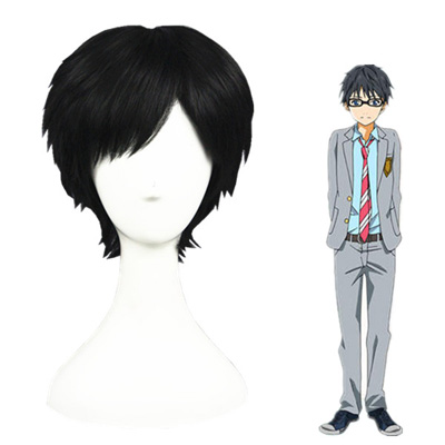 Your Lie in April Arima Kousei Black Cosplay Wig