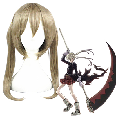 Soul Eater Maka Albarn Linen Brown Fashion Cosplay Wigs