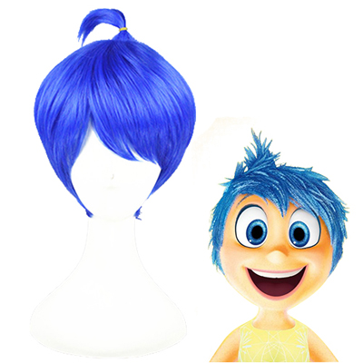 Inside Out Joy Blauw Cosplay Pruiken
