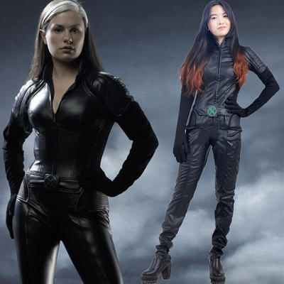 Fantasias de X Men Rogue Leotard Cosplay