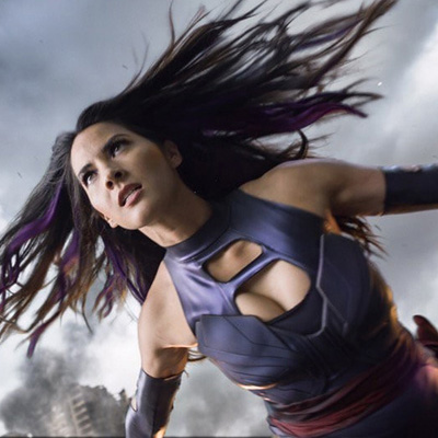 X Men Psylocke Purple Fighting Service Cosplay Kostymer