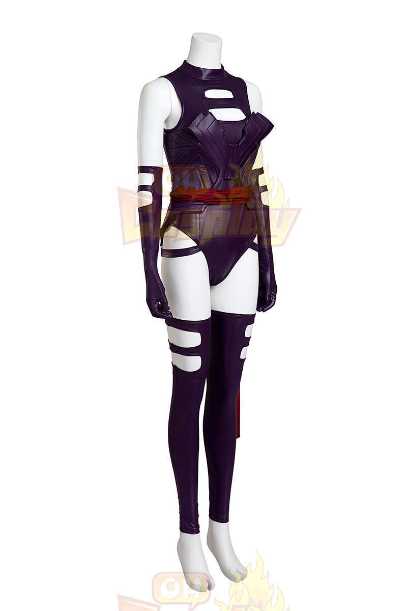 Fantasias de X Men Psylocke Purple Fighting Service Cosplay