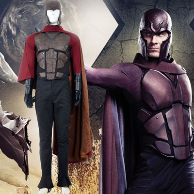 X Men Magneto Fighting Service Cosplay Kostymer
