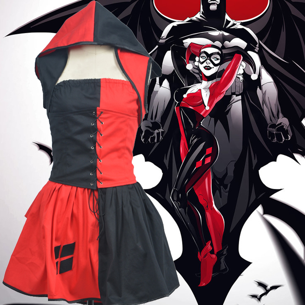Costumes Batman Harley Quinn Skirt l'Haloween
