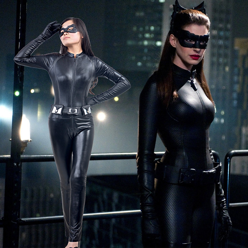 Fantasias de The Dark Knight Rises Catwoman Cosplay Halloween