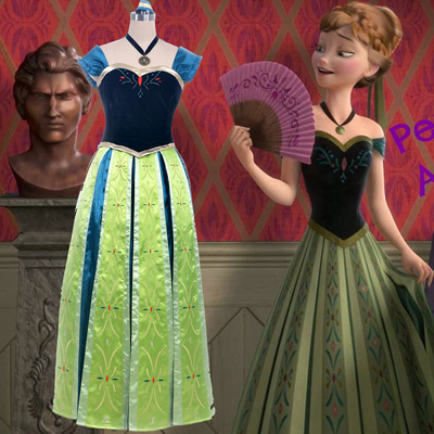 Costumi Carnevale Negozio Disney Frozen Princess Anna Coronation Robes