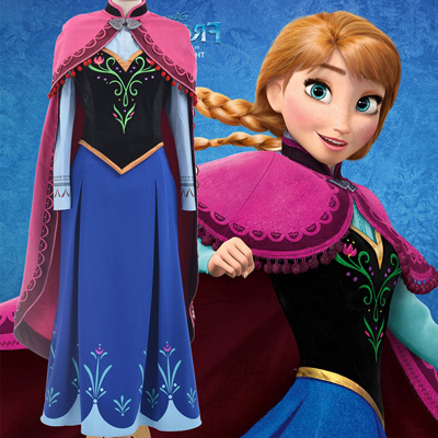 Disney Store Frozen Princess Anna Costumes Dresses