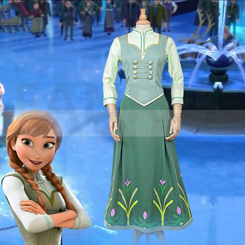 Fantasias de Loja da Disney Frozen Princess Anna Cosplay