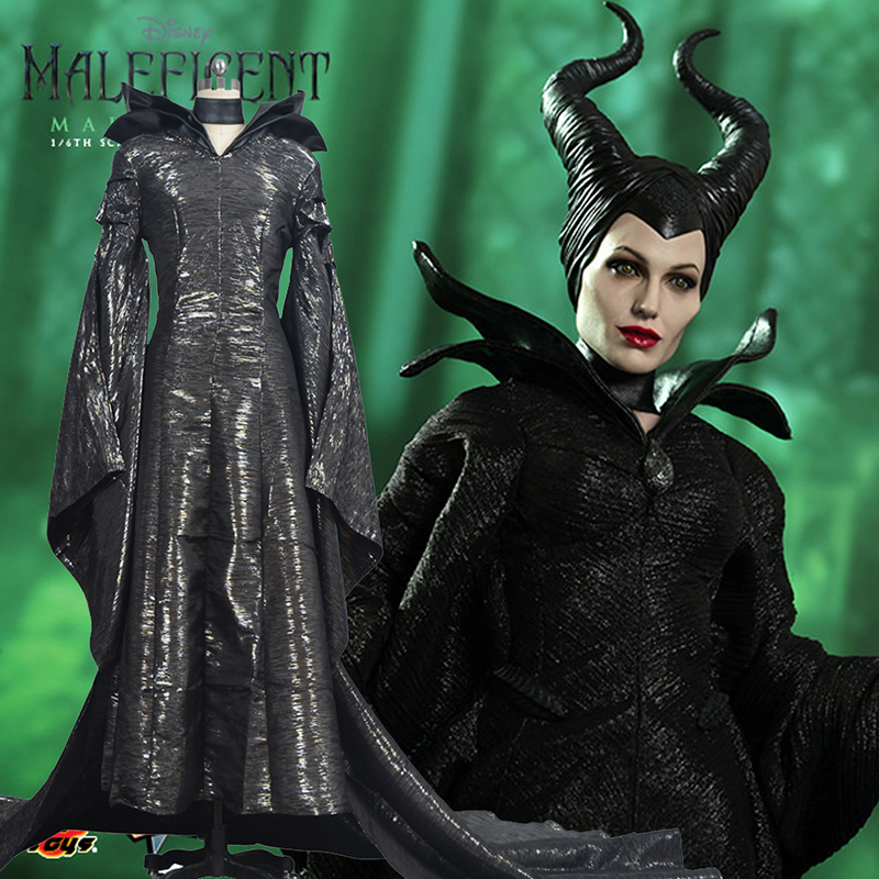 Disney Maleficent Black Halloween Kostymer