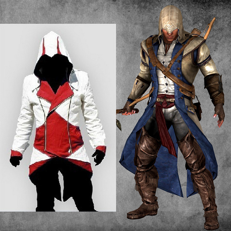 Assassins Creed 3 III Conner Kenway Kapuzenpullover 5 Colors Mantel Jacke