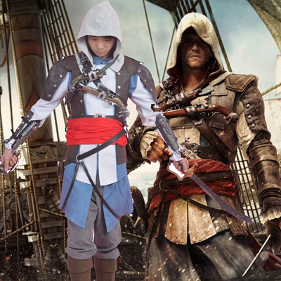 Assassins Creed 4:Black Flag Cosplay Karneval Kläder