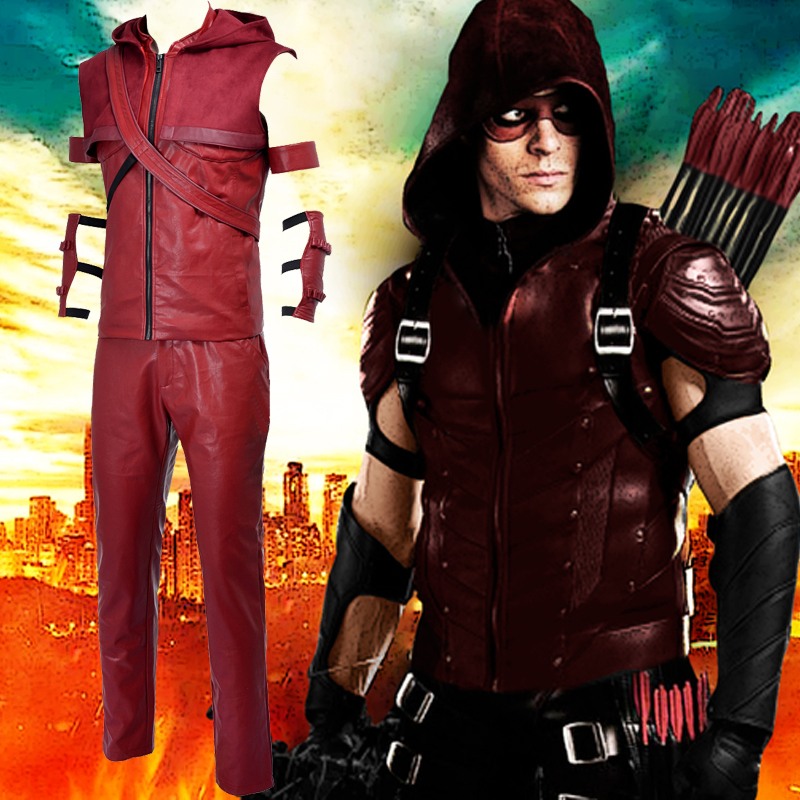 Arrow Roy Harper Red Cosplay Kostymer