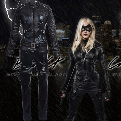 Fantasias de Arrow Black Canary Sarah Cosplay