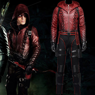 Fantasias de Arrow II Roy Harper Upgraded Version Vermelho Cosplay