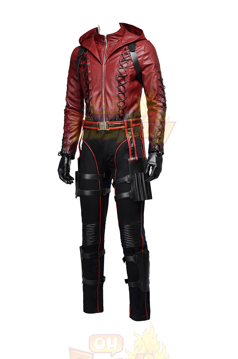 Arrow II Roy Harper Upgraded Version červená Cosplay Kostýmy