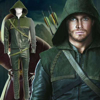 Arrow II Oliver Queen Green Cosplay Kostumer