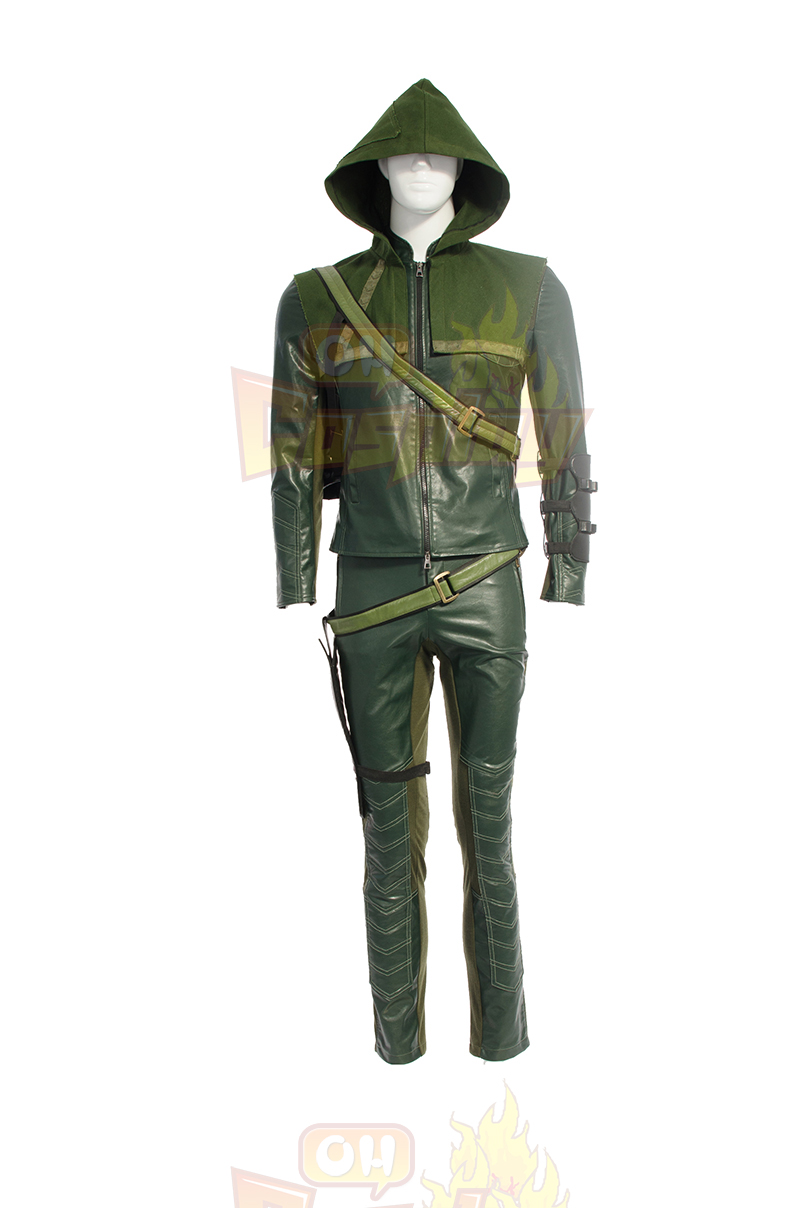 Fantasias Arrow II Oliver Queen Green Cosplay