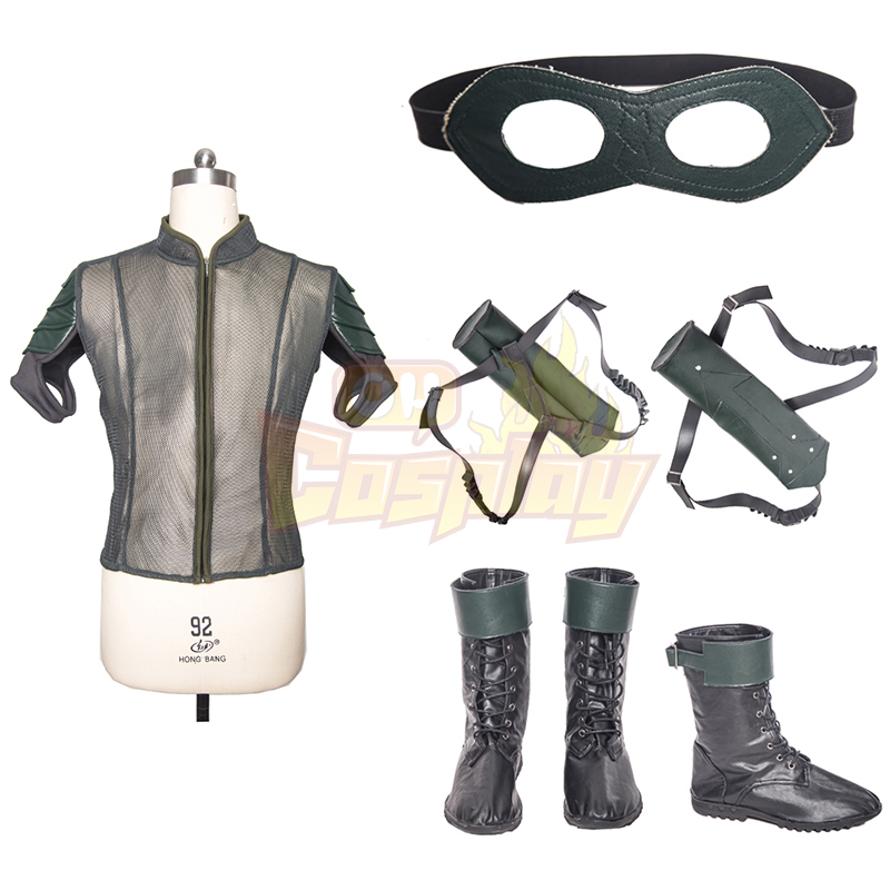 Arrow IIII Oliver Queen Upgraded Version Green Cosplay Κοστούμια